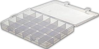 24 Grid Cells Plastic Multipurpose Jewelry Organizer Storage Box - Transparent