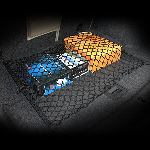 AndyGo Car Rear Cargo Trunk Storage Net Fit for Peugeot 206 207 208 2008 3008 301