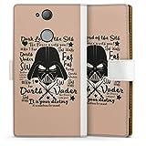 DeinDesign Étui Compatible avec Sony Xperia XA2 Étui Folio Étui magnétique Papa Darth Vader Star...