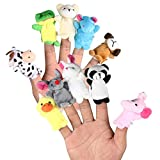 LEORX Animales de la dedos títeres muñecos Soft accesorios juguetes - 10pcs (patrón...