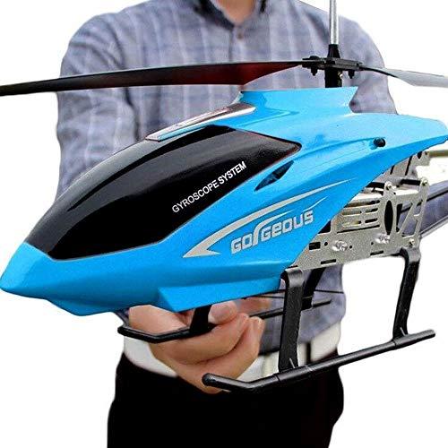 Moerc RC Helicopter 80 cm grande Big 3.5CH Marco de metal Gyro con luces LED 2.4GHz Radio Radio Control remoto eléctrico RC Helicoper Niños Niños Niños Toros de regalo interior Helicópteros interiores