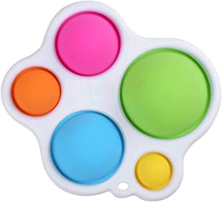 Simple Sensory Toys Manste Simple Dimple Fidget Toy Silicone Flipping Board Grasp Toys Orange + Green Early Education /& Gifts Toys for Babies and Toddlers