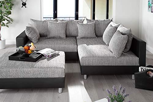 Ecksofa Couch –  günstig Design mit Hocker LOFT Bild 2*