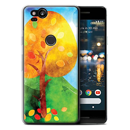 Stuff4® Gel TPU hoes/case voor Google Pixel 2 / aquarel schilderij patroon/herfst mode collectie