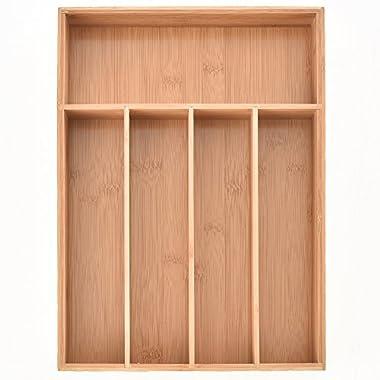Comllen Bamboo Cutlery Tray - Kichen Organization / Silverware Storage