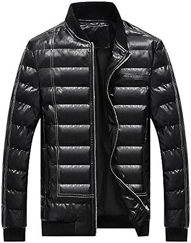 L'hiver Un Manteau d'hiver Veste Coton, Coton Cuirs Hommes Les Hommes,noir,XXXL