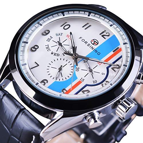 Forsining Herren Uhr Automatik Mechanische Skelett Edelstahl Armbanduhren