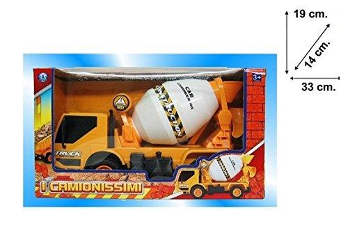 Takestop® hormigonera Box Camión 19x 33x 14cm obra construcción Rueda Juegos Juguete Niños Bebé De 3+ años