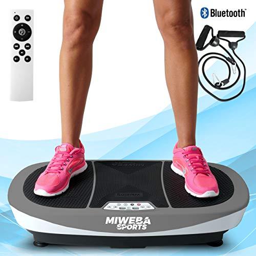 Miweba Sports Fitness 3D Vibrationsplatte MV200-3 Jahre Garantie - 3 Vibrationsmodi - Horizontal - Vertikal - Oszillierend - 400 Watt (Grau)