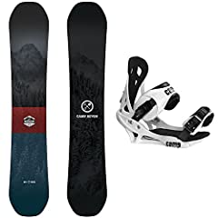 Camp Seven Redwood RCRX Snowboard : This year brought a complete redesign and tons of upgrades to the Camp Seven Redwood! Centered around an all new RCRX rocker camber rocker story, the Redwood has strategically placed rocker zones in the tip and tai...