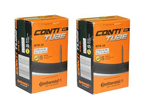 2本セット コンチネンタル Continental MTB26 仏式チューブ 26x1.75-2.5 バルブ長60mm(47-559/62-559) [並行輸入品]