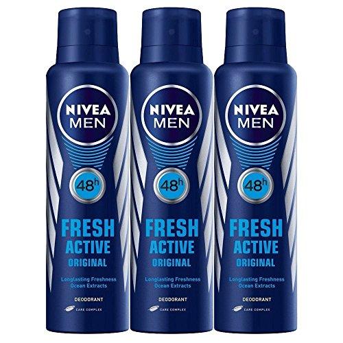 Nivea Men 48 Hour Fresh Active Deodorant, 150ml (Pack of 3)