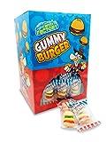 Mini hamburguesas de gomitas de Fábrica de caramelos, 10 g, 100 unidades en cada caja