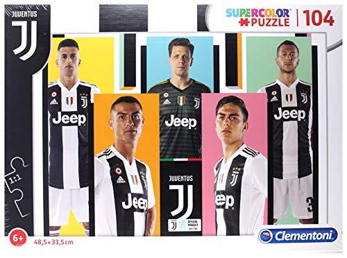 Clementoni- Puzzle Juventus-104 Pezzi, Multicolore, 27523