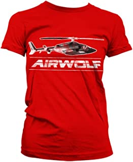 Airwolf Officially Licensed Merchandise Chopper Distressed Girly T-Shirt