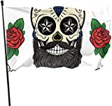 Oaqueen Flagge/Fahne, Skeleton Tattoo Flag: 3x5 FT Flag Tough The Strongest, Longest Lasting Flag National Flag Outdoor Flags