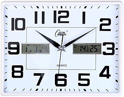 Living Room Bedroom Wall Clock Clock Mute Wall Charts Calendar Is A Simple Calendar Clock,