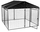 Lucky Dog Modular Box Kennel w/Roof and Cover (6'H x 10'L x 10'W) 207 lbs