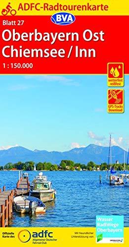ADFC-Radtourenkarte 27 Oberbayern Ost / Chiemsee / Inn 1:150.000, reiß- und wetterfest, GPS-Tracks Download (ADFC-Radtourenkarte 1:150000)