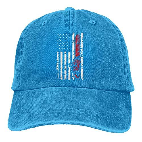 wwoman Gorra de béisbol para Hombres y Mujeres, Sombrero de Gorra de Mezclilla Ajustable de algodón con Bandera de Motosierra de Halloween para Hombres