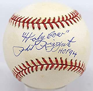 "Phil Rizzuto Single Signed Baseball""9 (Budig, HOF 94, Holy Cow)"" PSA DNA (card)"