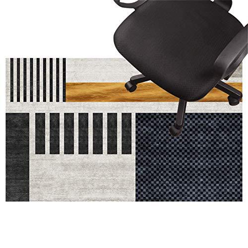 Stuhl unterlagen Teppich für bürostuhl, Low Pile Carpet, rutschfeste Stuhlmatte, Silent Bodenschutzmatte Für Holzböden, Keramikfliesen, Laminat(Size:120×160cm/47×93in,Color:EIN)