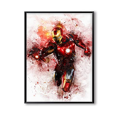 xmydeshoop Superhero Avengers Poster Movie Captain America Spider-Man Iron Man Marvel Canvas Painting Poster and Prints Wall Art Pictures 40x60cm No Frame PE-468