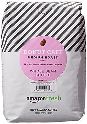 AmazonFresh Donut Cafe Whole Bean Coffee, Medium Roast, 32 Ounce (Pack of 1)