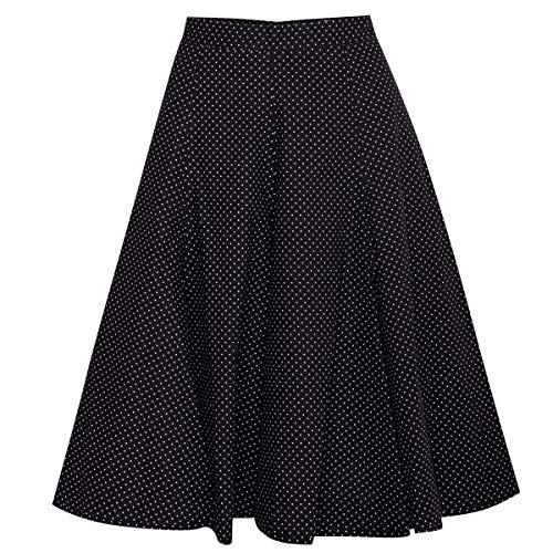Almsach Damen Trachten-Mode Rock Anja in Schwarz 60 cm traditionell, Größe:44, Farbe:Schwarz