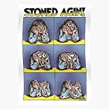 Stoned Agin Again Psychedelic Robert Fabulous Stoner Crumb I Fsgshaniyan - Wall Art Posters Printed Modern for Family Bedroom Decor