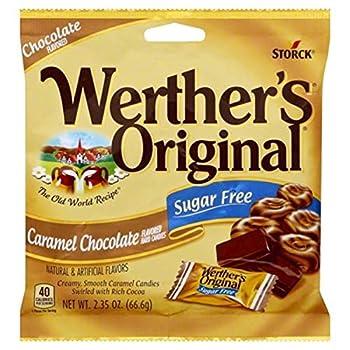Werther s Original Caramel Chocolate Sugar Free Hard Candies 2.35 Oz pack of 2