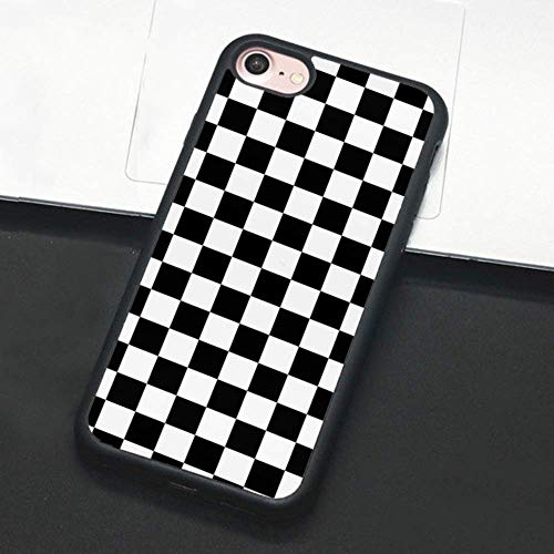 Checkerboard Phone Case Compatible with iPhone 12 11 Pro Max XS XR X 7 8 Plus 6 6s 5 5s Hard Cover Grid Lattice Plaid Tartan Damier Chessboard Checker Flag (Compatible with iPhone 7/8, 1)