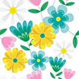 Möbelaufkleber, Aufkleber, Möbelfolie, Sticker, Klebefolie Glänzend für Ikea Lacktisch 78cm x 78cm Clip Art Flower