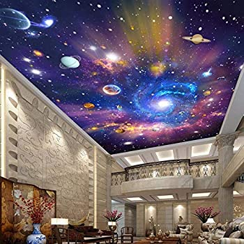 Premium Wall Murals for Bedroom Custom 3D Photo Wallpaper Star Universe Galaxy Room Suspended Ceiling Wall Painting Living Room Bedroom Wallpaper Home Decor