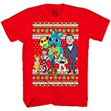 Disney Toy Story Buzz Woody Forky Jessie Alien Christmas Adult T-Shirt(Red,X-Large)