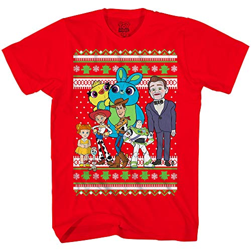 Disney Toy Story Buzz Woody Forky Jessie Alien Christmas Adult T-Shirt(Red,X-Small)