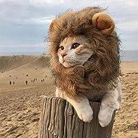 XINGGUANGHoopet ペット猫コスチューム服キャップおかしい帽子ライオンたてがみウィッグ帽子パーティーコスプレアクセサリーアウトドアヘッド磨耗ペット服 猫