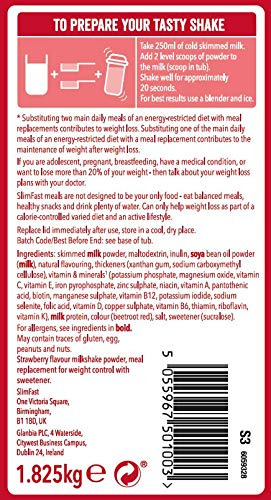 SlimFast High Protein Meal Replacement Powder Shake, Summer Strawberry Flavour