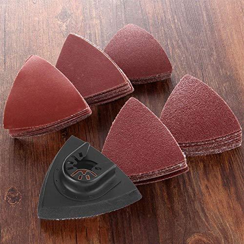 Hoja de lija Boaby - 51 piezas de discos de lijado oscilantes para múltiples herramientas, hojas de sierra oscilantes de 3-1/8 pulgadas, 80 mm