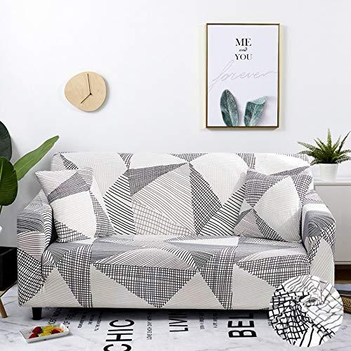 WXQY Fundas elásticas con Tiras Cruzadas Fundas elásticas Totalmente envolventes Funda de sofá Antipolvo Funda de sofá Funda de sillón Toalla de sofá A27 2 plazas