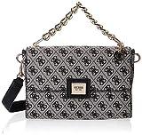 Guess Candace Top Handle Flap, Handbag Mujer, Negro, UNI