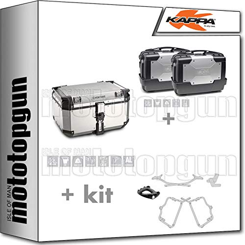 Maletín KVE58A + maletín lateral KGR33PACK2 + TRAGER MONOKEY + portaequipajes lateral monokey compatible con Yamaha FZ6 600 FAZER S2 2009 09