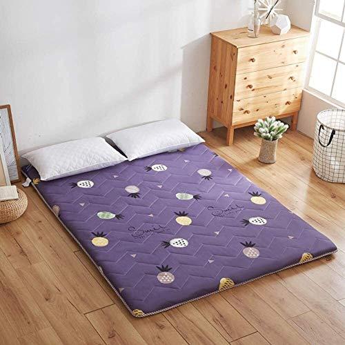 WJMLS Japanisch studentenwohnheim Falt-matratze futon Bodenmatratze weiche Und Atmungsaktive Tatami Falten Matratze altbares Futon auch für Massage Einzel Camping Matratzen Größe: 90x190cm (35x75inch)