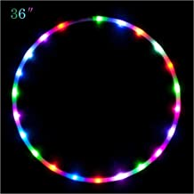 """Maylai 36"""" Led Hoola Hoop Voor Kinderen Volwassenen Veranderen LED Lichten Licht Gewicht Hoola Hoops"""