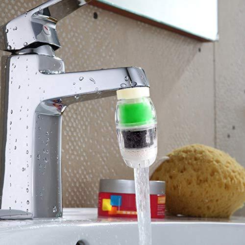 happyhouse009 Wasserhahn-Wasserfilter, Aktivkohle-Kartusche, Wasserhahn, Wasserreiniger, Filter-Werkzeug Zufällige Farbauswahl