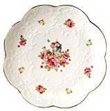 Pack of 2-Vintage Rose Fine China Dinner Plate/Fruit Plate/Dessert Plate FDPL04 (8 Inches)