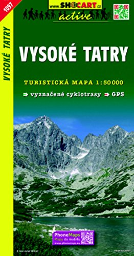 Vysoké Tatry / Hohe Tatra (Wander - Radkarte 1:50.000) (SHOCart Wander - Radkarte 1:50.000 Slowakei)