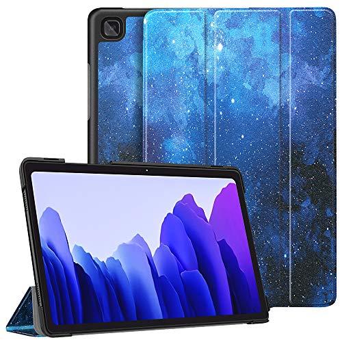 Dadanism Hülle für Galaxy Tab A7 10.4 2020, Leicht PU Schutzhülle mit Standfunktion & Auto Schlaf/Wach Funktion, Hülle Cover für Samsung Galaxy Tab A7 10.4 Zoll 2020 Tablet - Blau Stern Himmel
