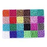 24 colores de bolas de semillas de vidrio, 6000 Pcs colores mezclados mini granos del espaciador Checa Abrillantado flojos con el agujero para hacer la joyería, bricolaje y decoración del arte del