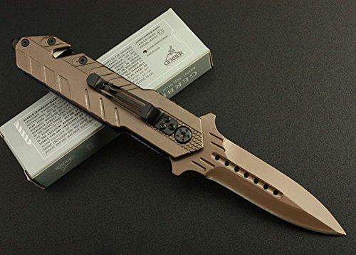 FARDEER KNIFE X19 Titanium Schwarz Klappmesser